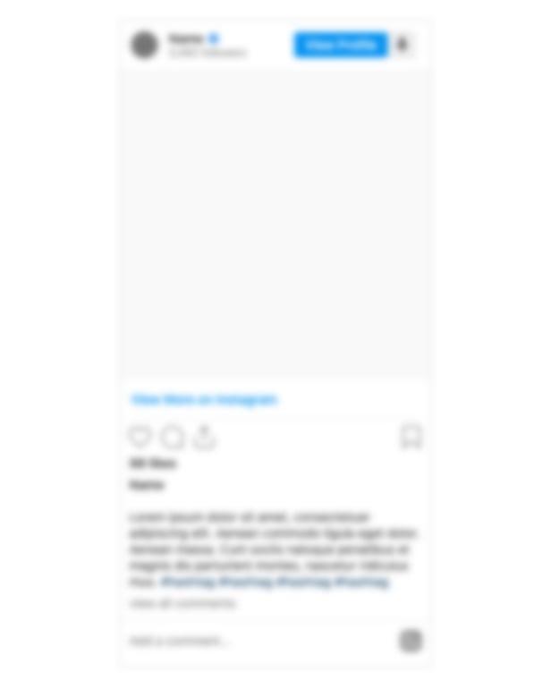 einen Instagram Post Platzhalter.